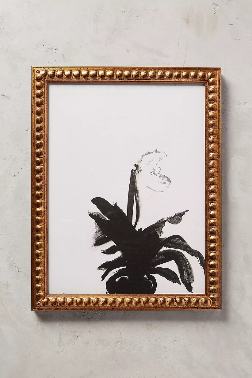 anthropologie orchid wall art for 14th year wedding anniversary gift