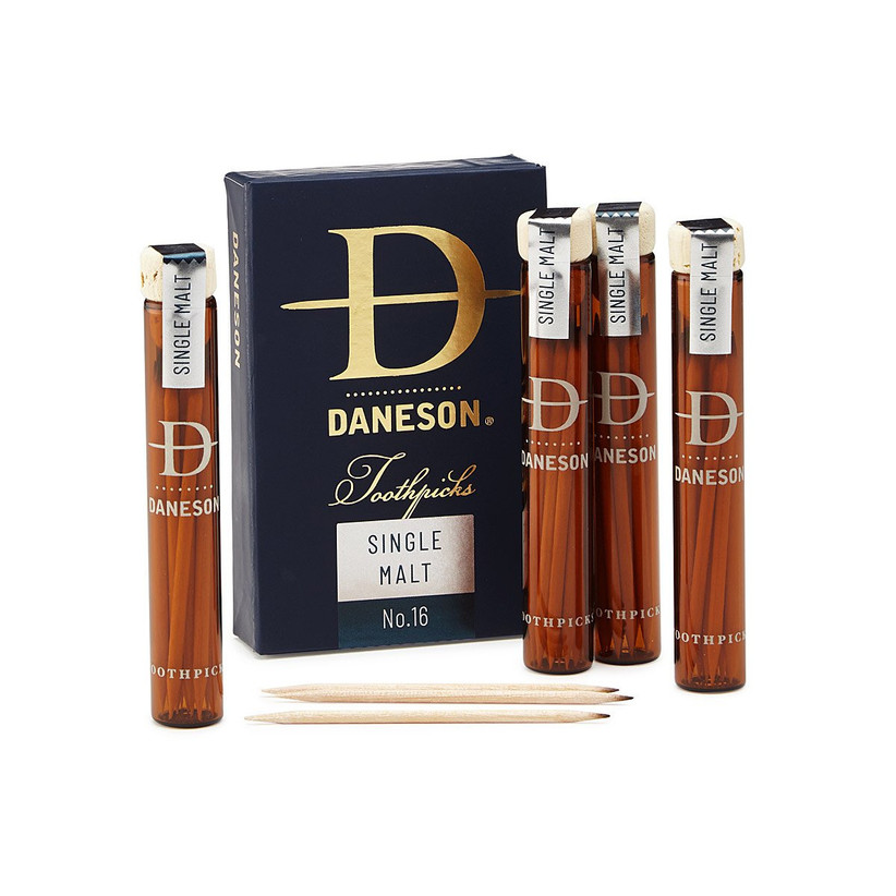 Whiskey-infused toothpick set father of the bride gift