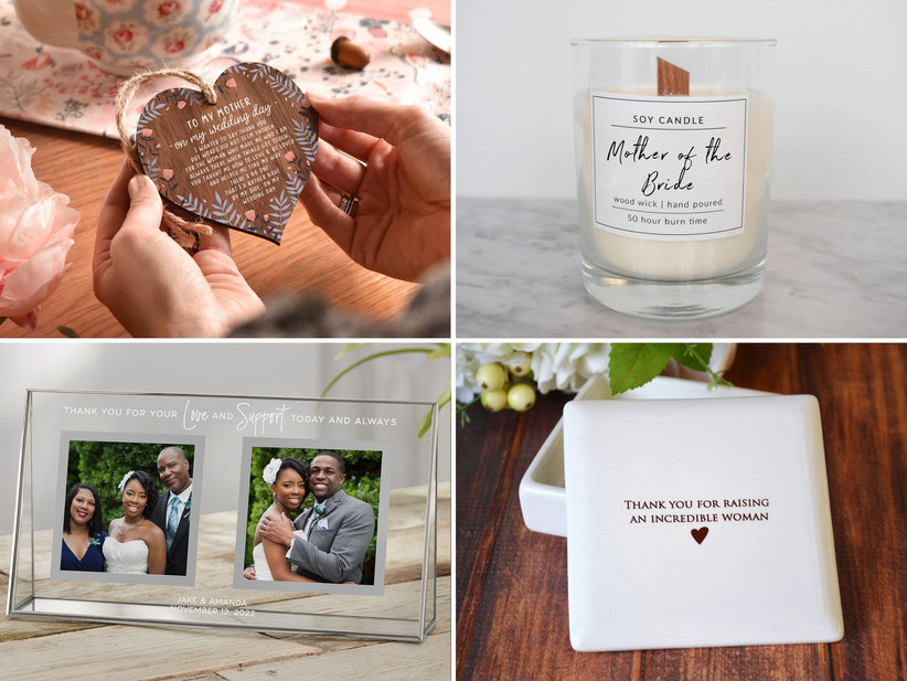 Collage of mother of the bride gift ideas