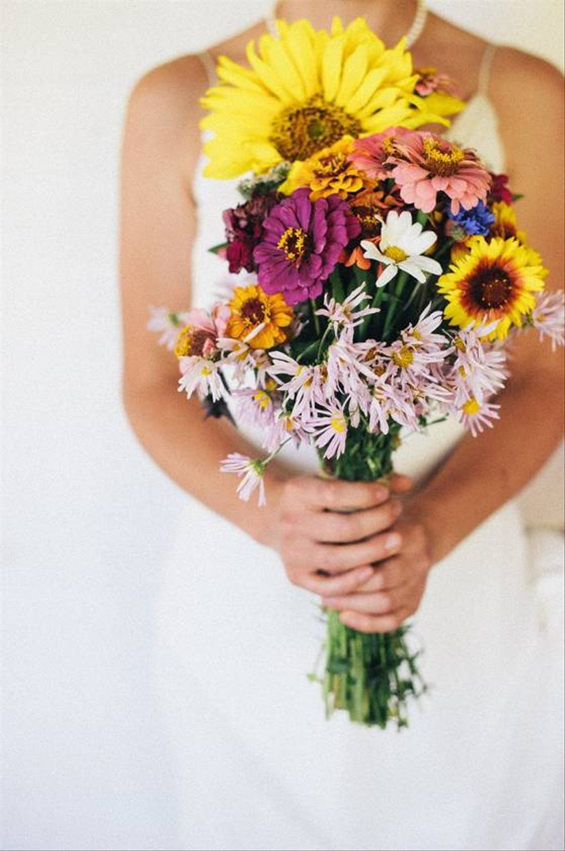 wildflower fall wedding bouquet