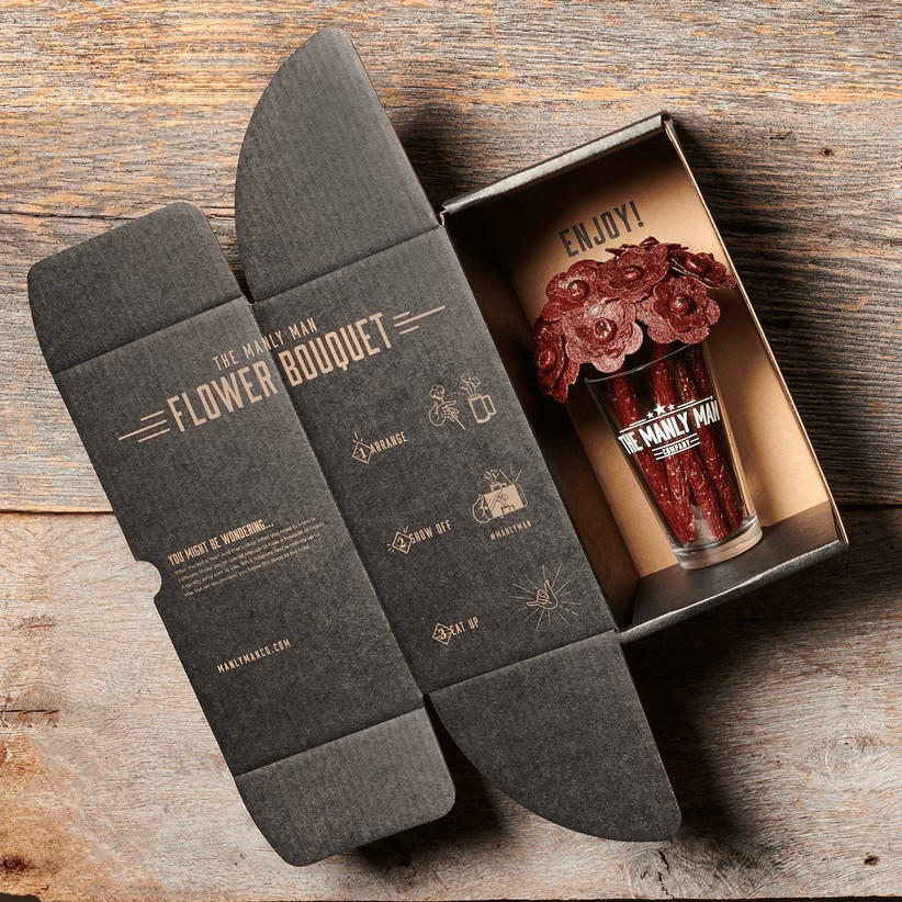beef jerky bouquet groomsmen gift idea
