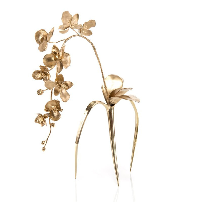 perigold gold artificial flowering branch for 14th year wedding anniversary gift