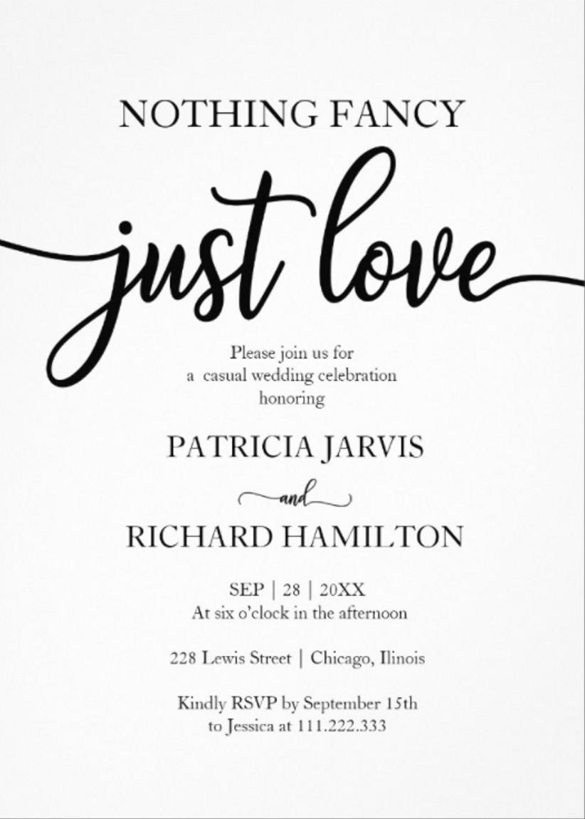 black and white winter wedding invitations