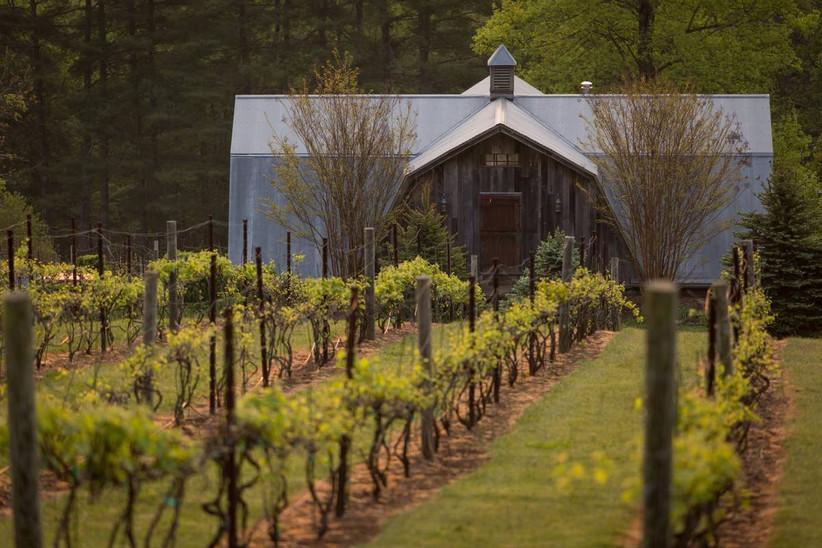north carolina winery wedding venue with historic barn