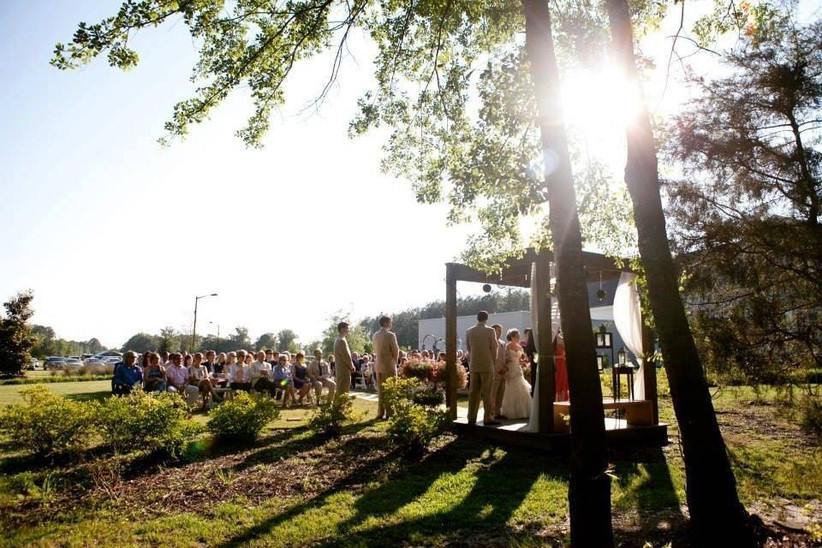 outdoor ceremony view at the richmond hill city center
