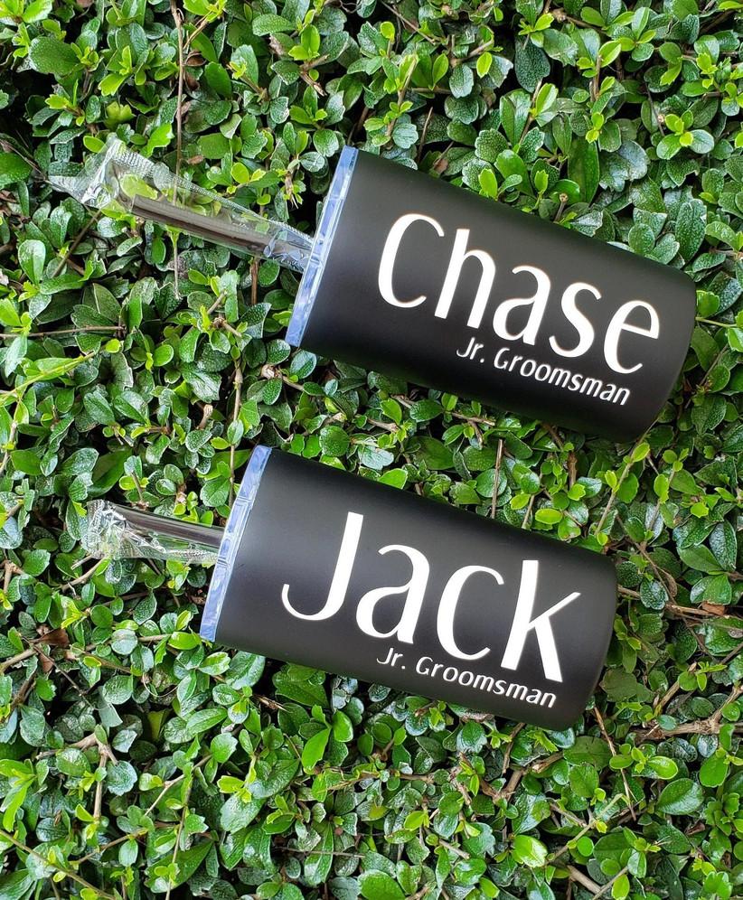 Junior groomsmen proposal gift personalized tumblers