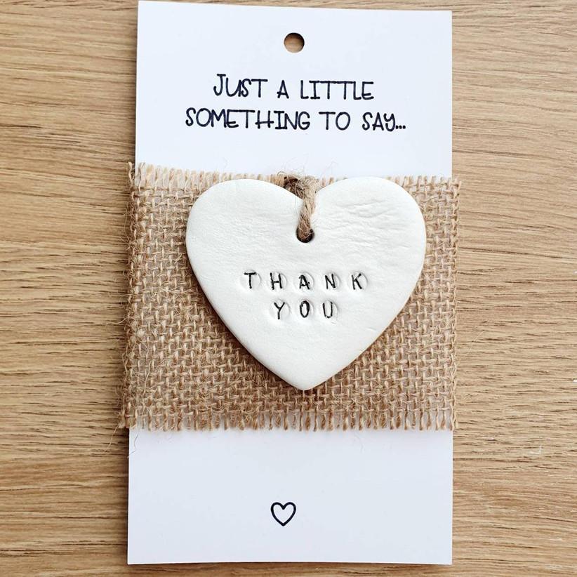 Thank You clay heart gift for wedding vendor