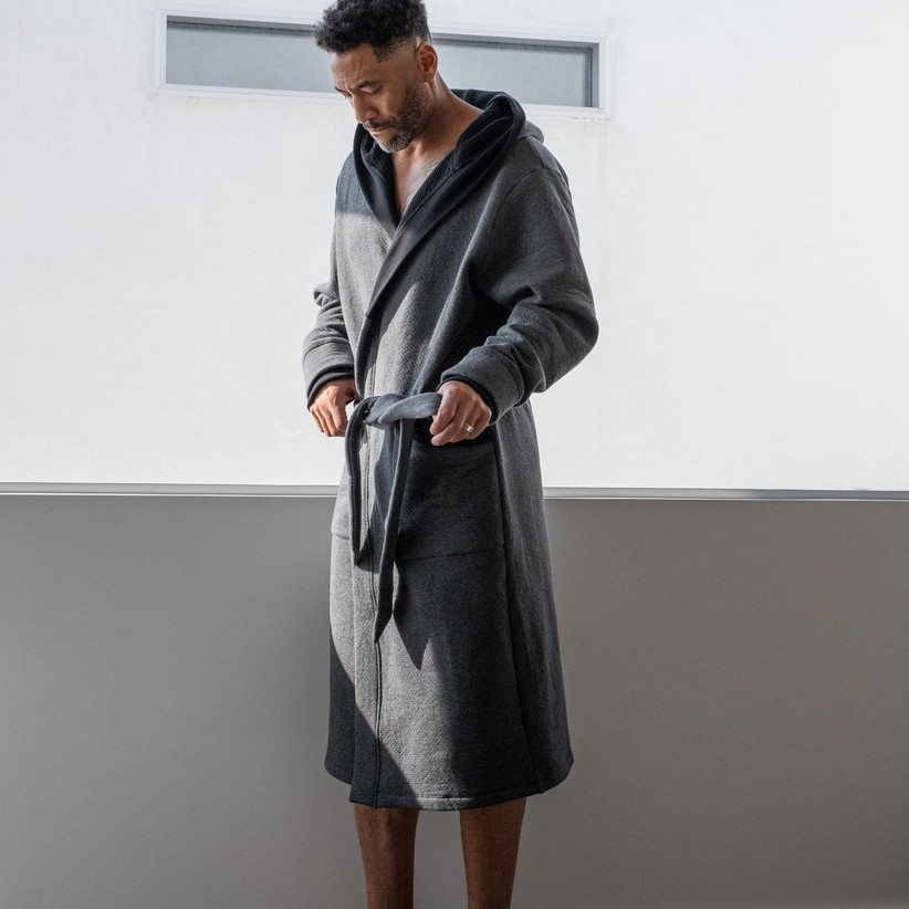 Luxurious soft bath robe father of the groom gift