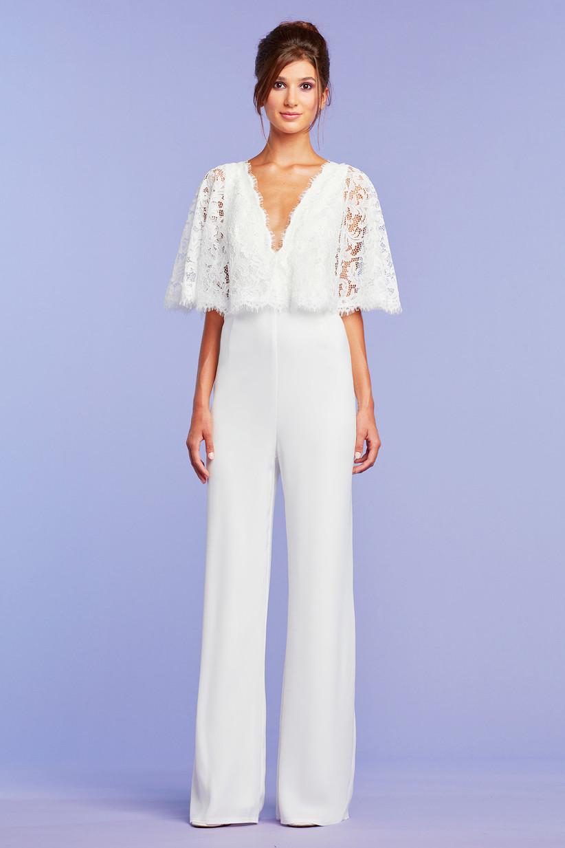 david's bridal white jumpsuit online