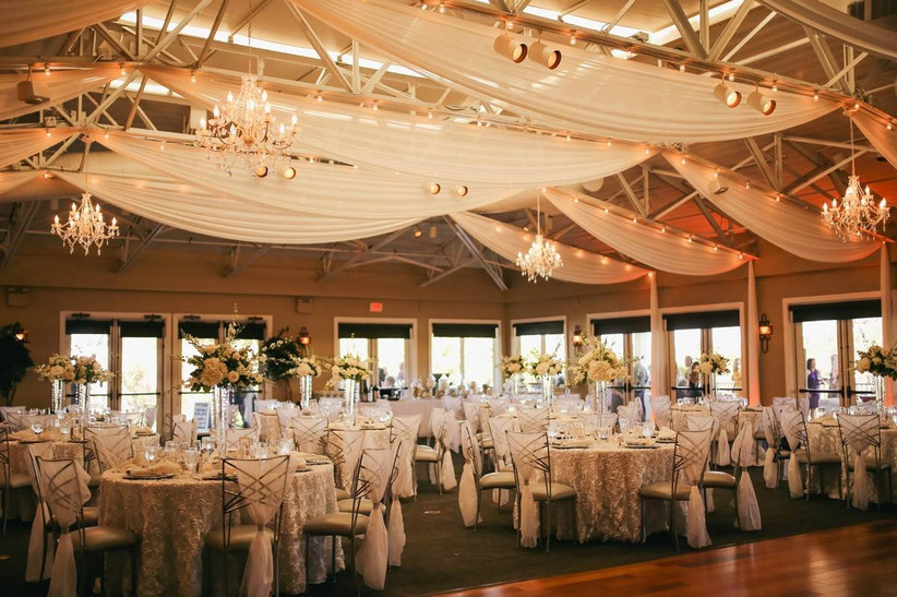 indoor golf club wedding reception