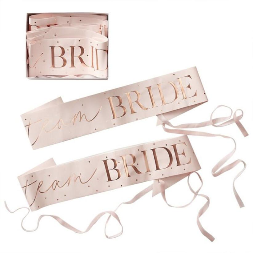 Team Bride bachelorette party sash