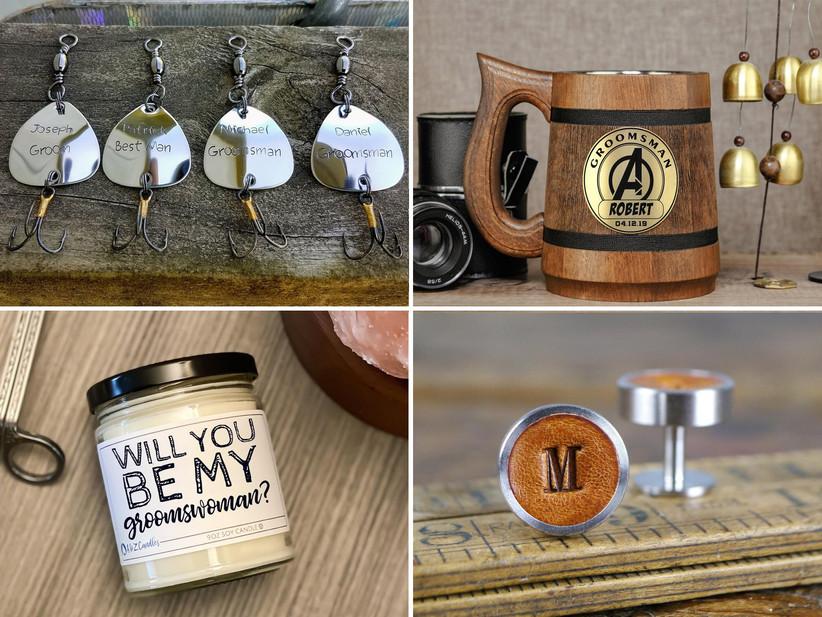 Groomsmen and groomswomen proposal gifts