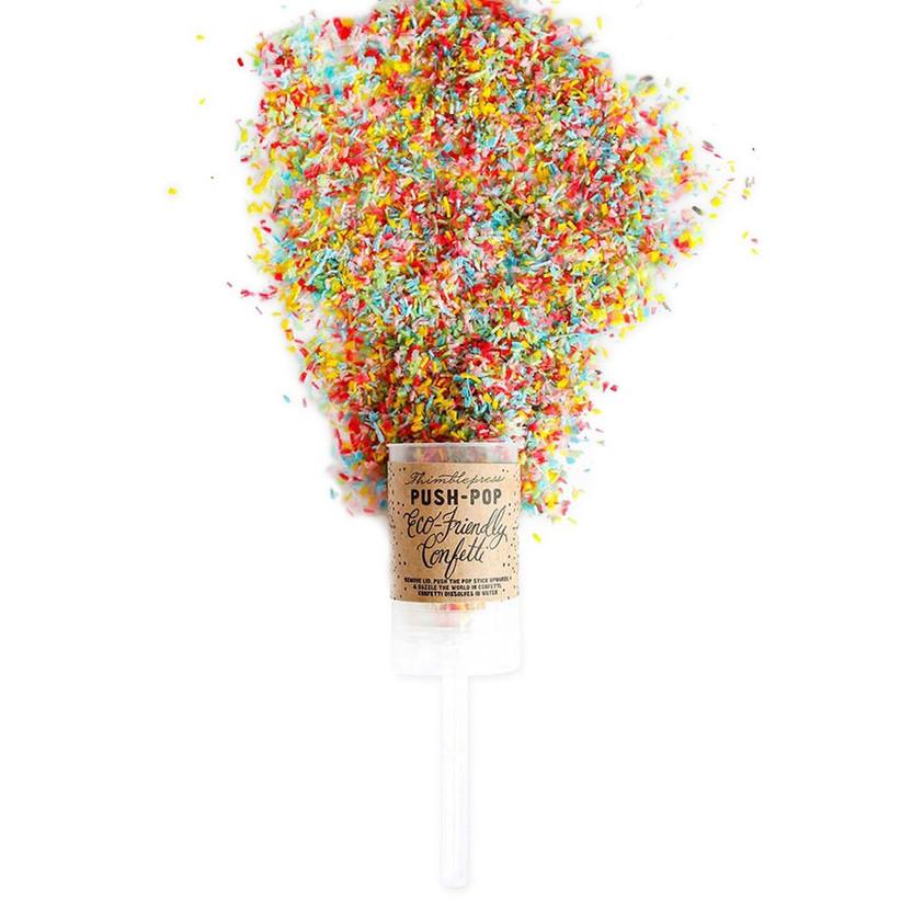 Push Pop eco-friendly confetti in multicolor