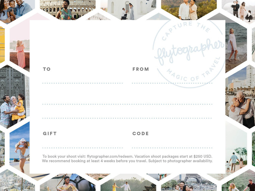 Flytographer gift card for bridesmaids