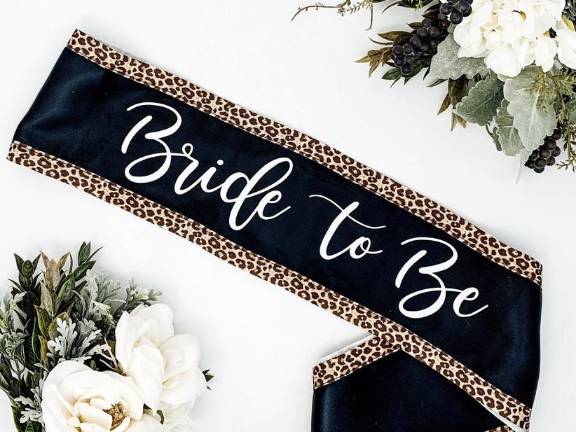 leopard print bride-to-be bachelorette party sash