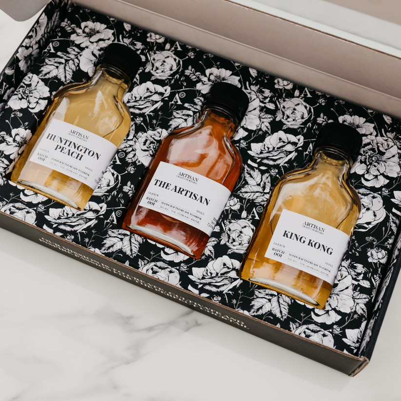 artisan craft cocktail set for 12th year wedding anniversary gift