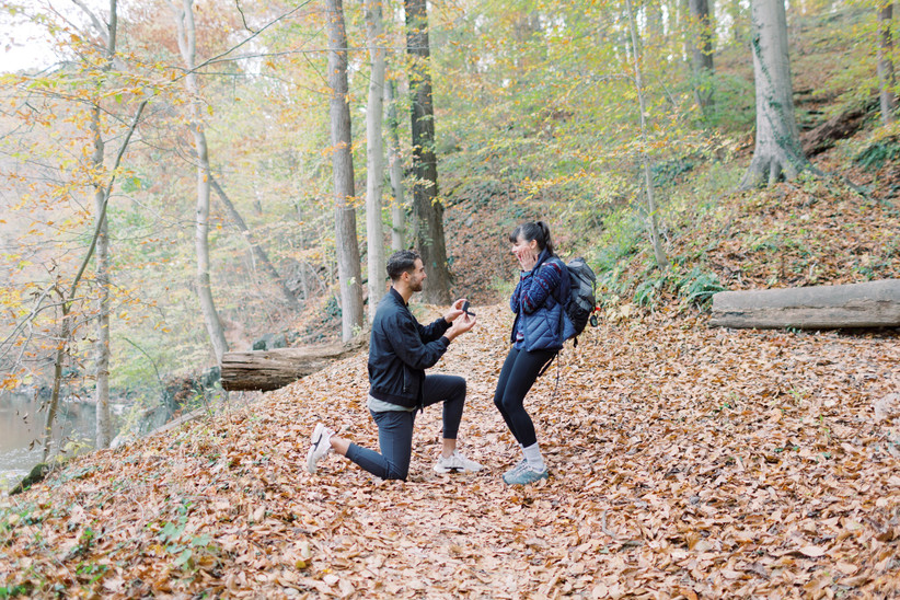 outdoor hiking proposal