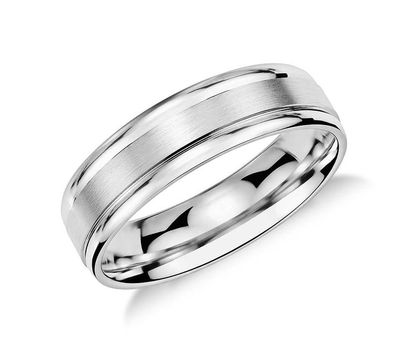 brushed inlay ring