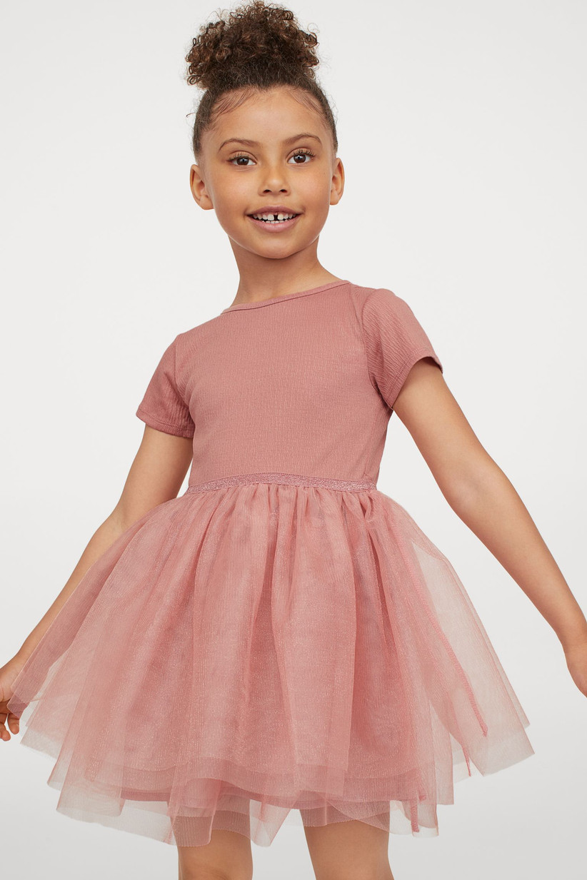 casual pink tulle skirt dress