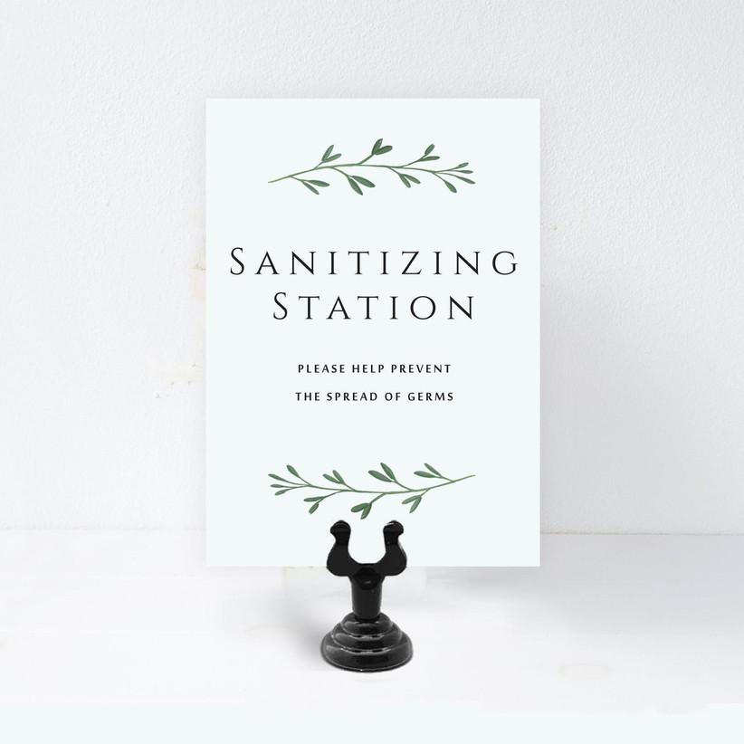 sanitizing station sign