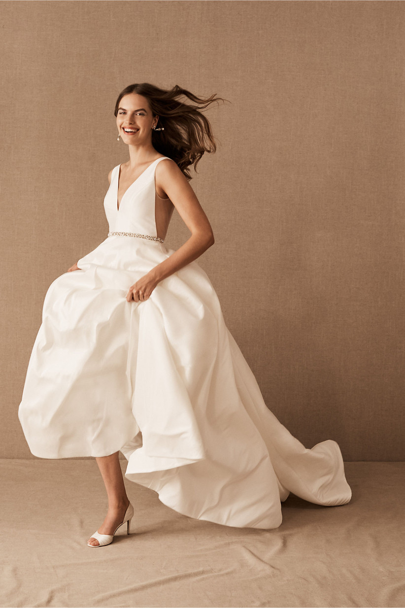 ball gown courthouse wedding dress