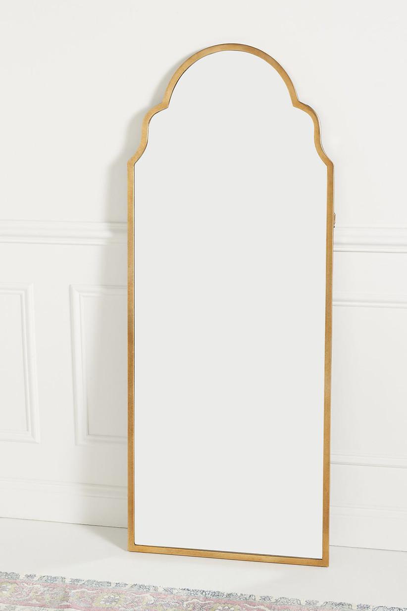 Bronze-tone framed mirror