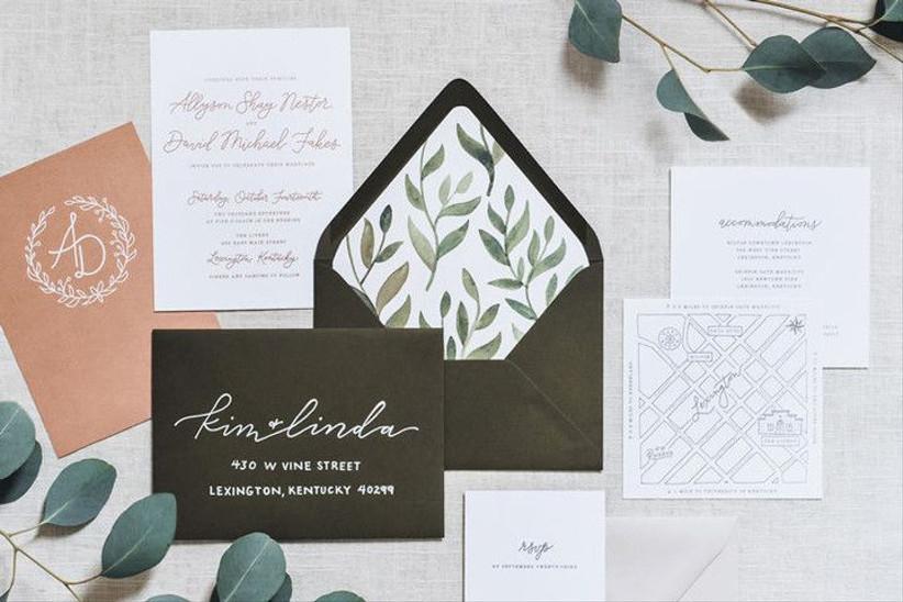 wedding stationery list invitation suite