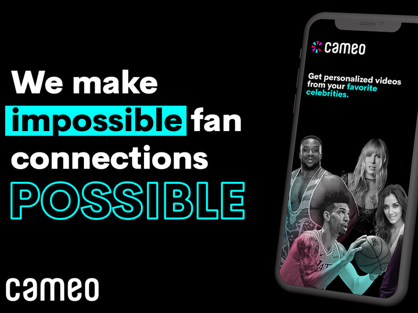 Celebrity video message service from Cameo