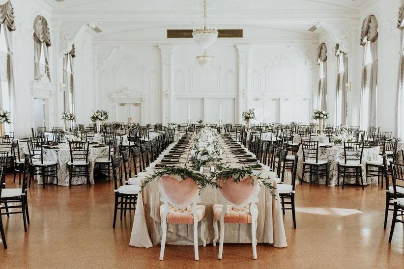 minimalist wedding ballroom setup