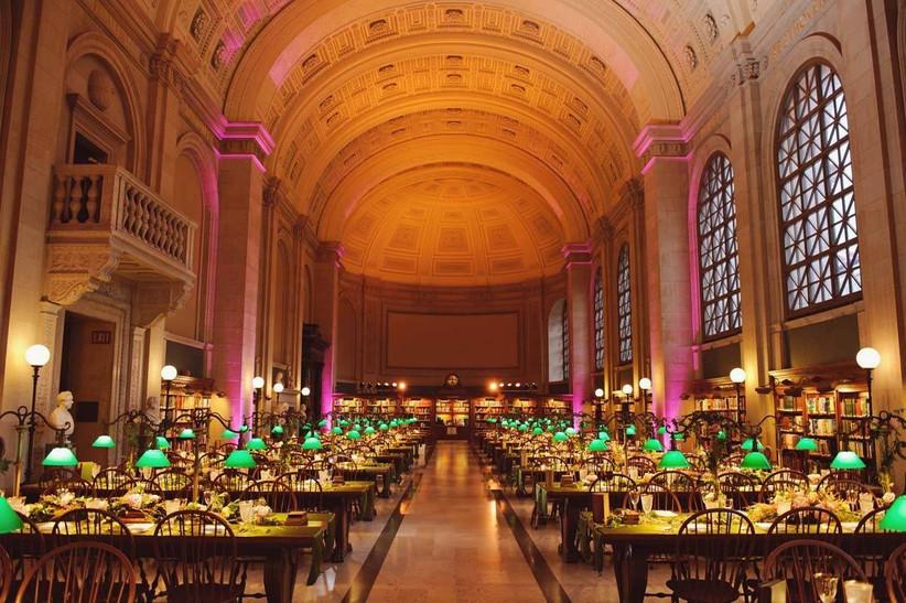 wedding reception at boston public library