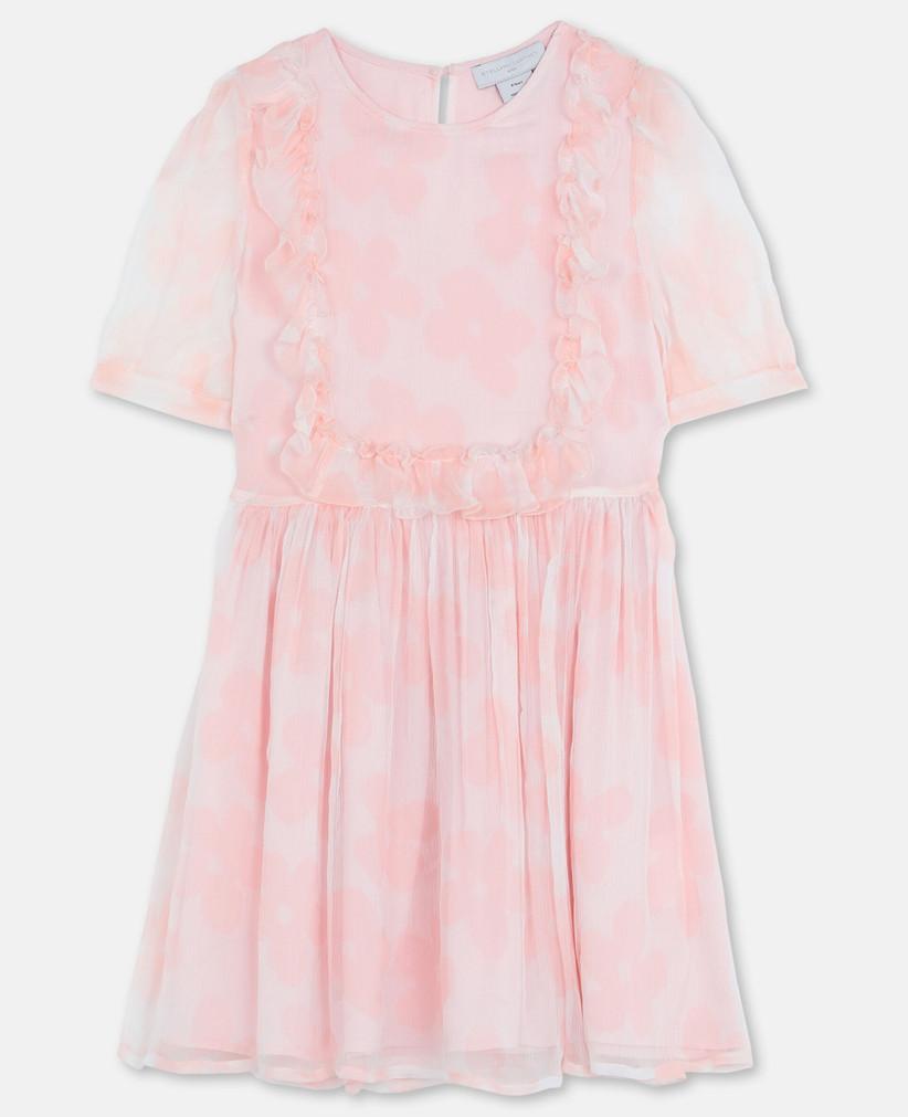stella mccartney pink flower dress kids