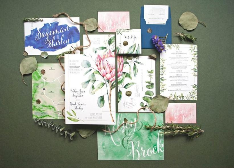 2021 wedding invitation trends color