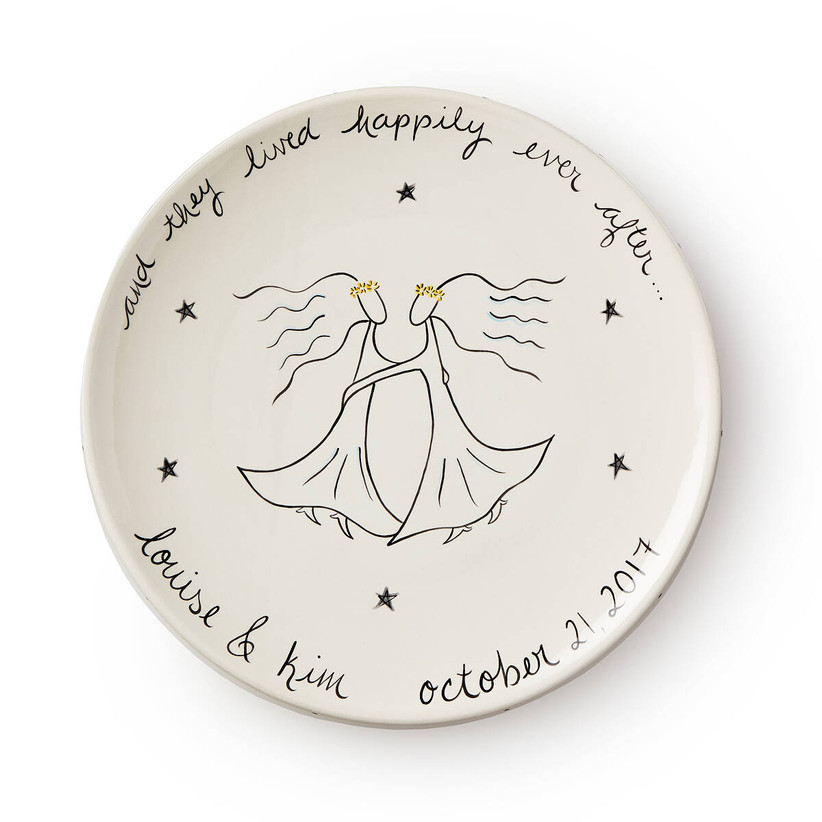 And They Lived Happily Ever After custom wedding gift keepsake plate