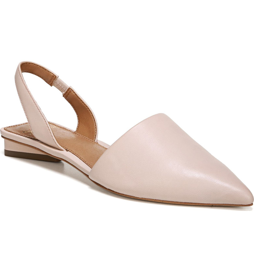 Wedding Guest Shoes blush leather flats