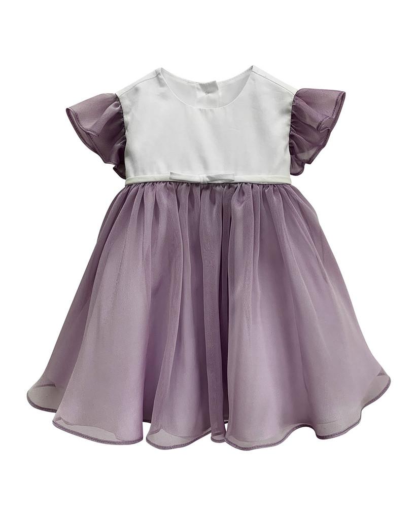 purple organza toddler flower girl dress