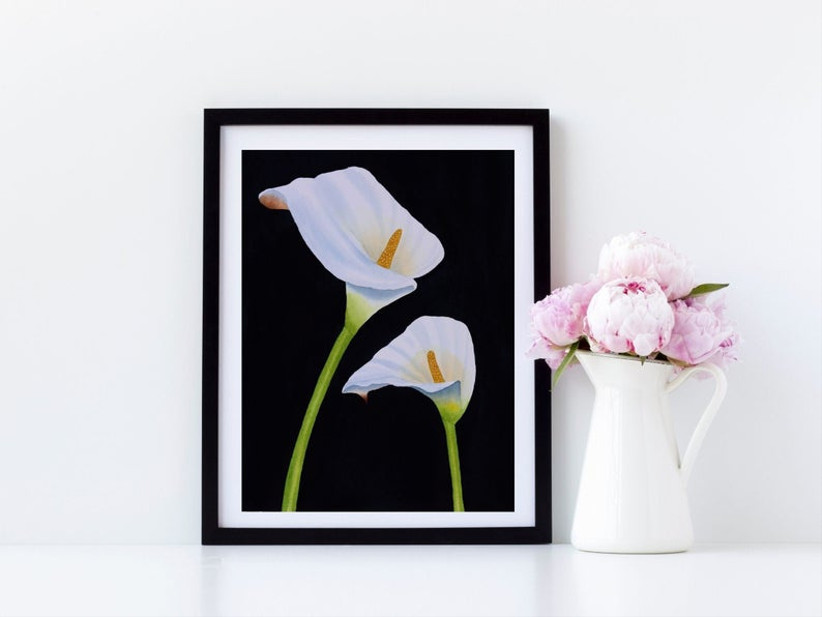 calla lily framed painting
