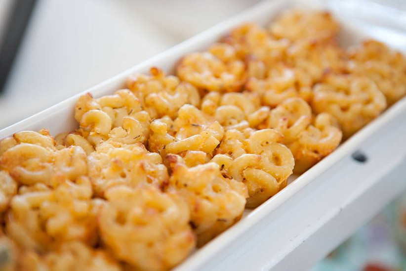 macaroni and cheese bites on a plate