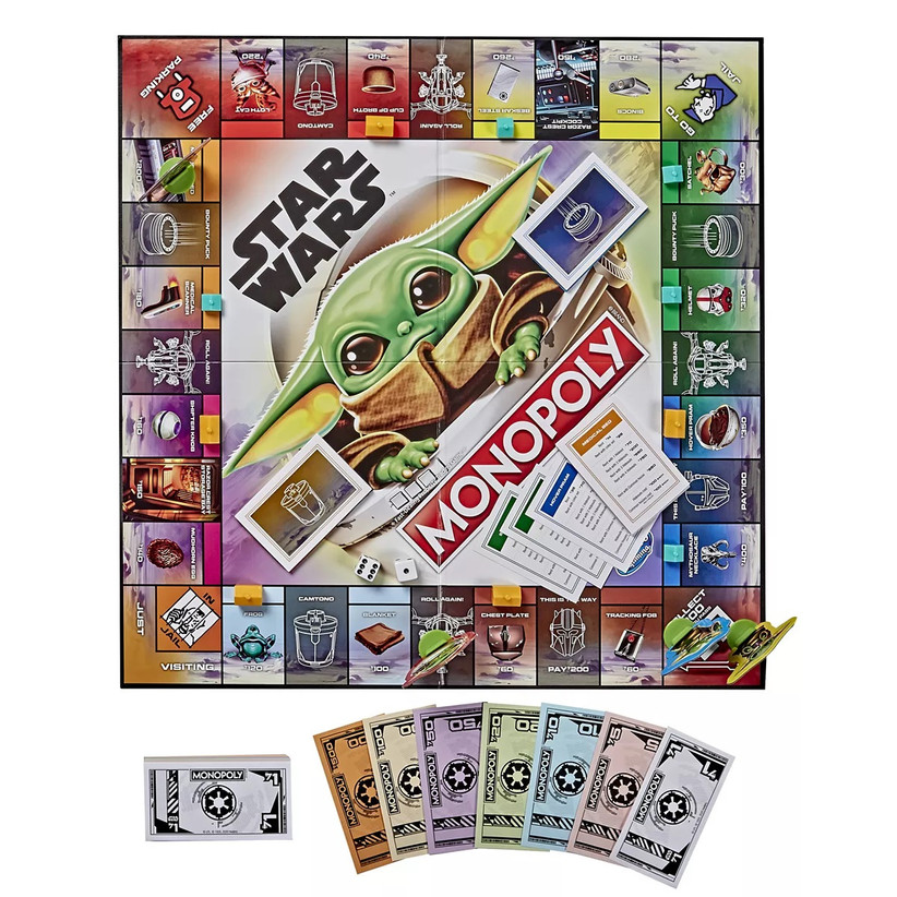 Mandalorian The Child monopoly board game for couples at home