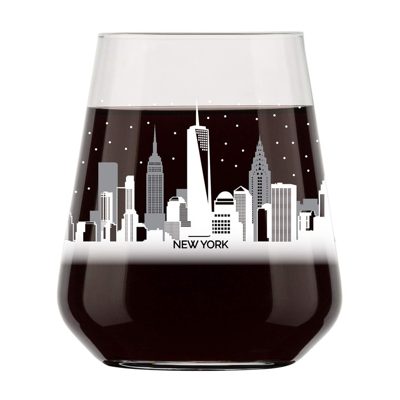 skyline wine glass