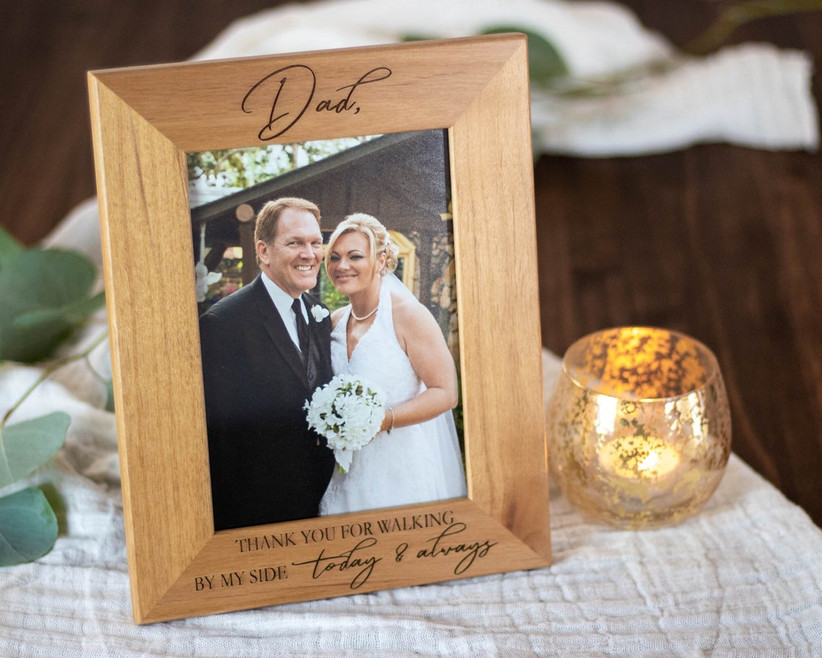 father of the bride gift photo frame