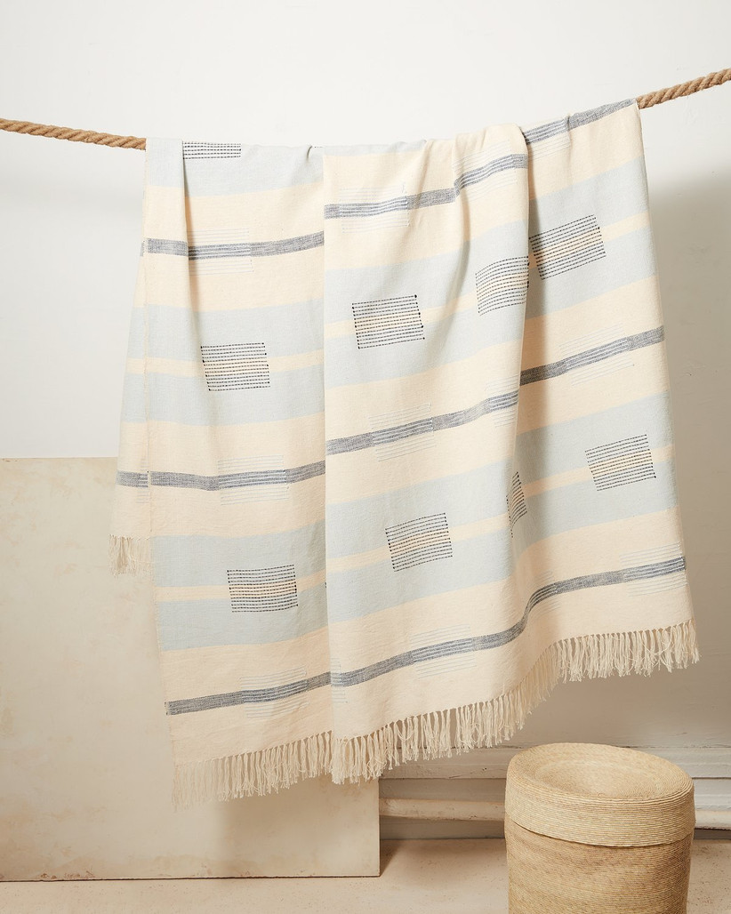 Beautiful woven throw mother of the bride gift