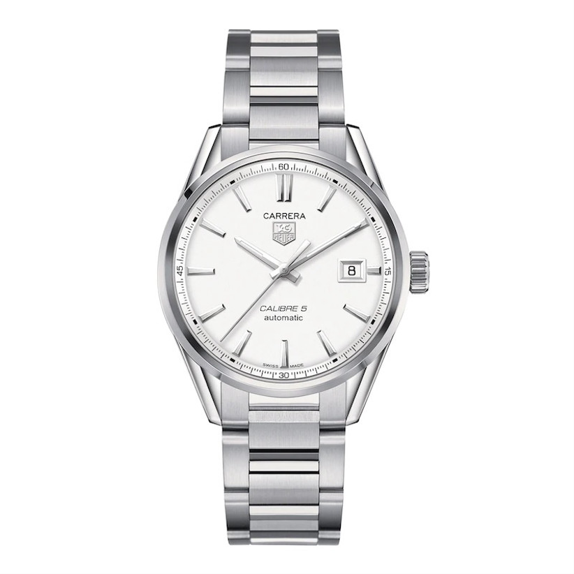 Simple stainless steel engagement watch