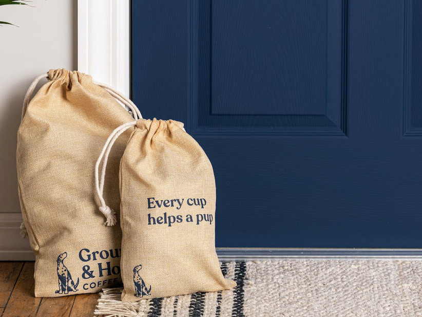 Grounds & Hounds coffee subscription delivery at person's door gift for sister-in-law