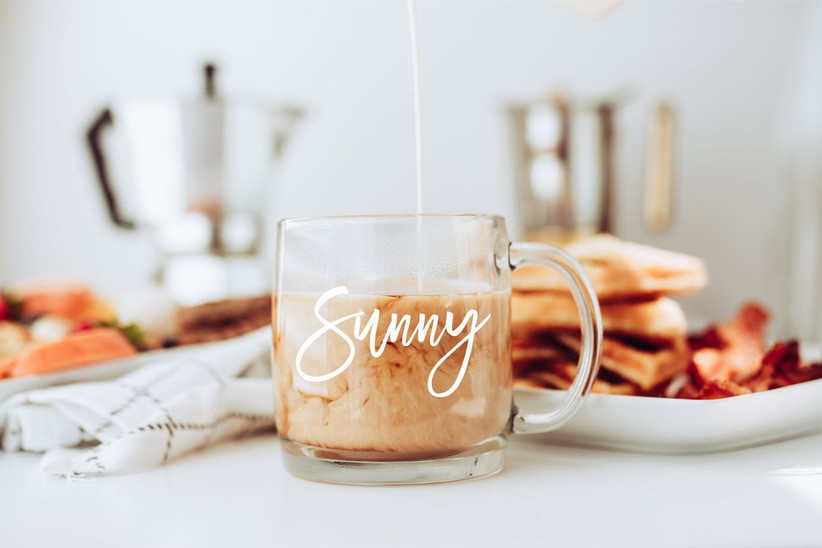 Personalized glass mug gift for sister-in-law