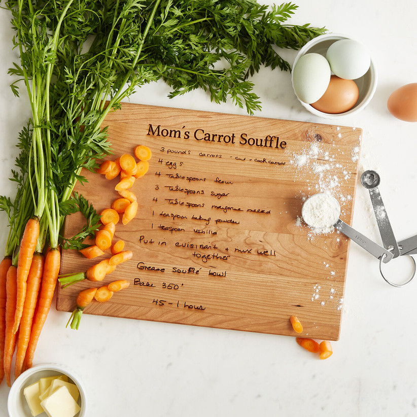 Cutting board engraved with recipe daughter-in-law gift