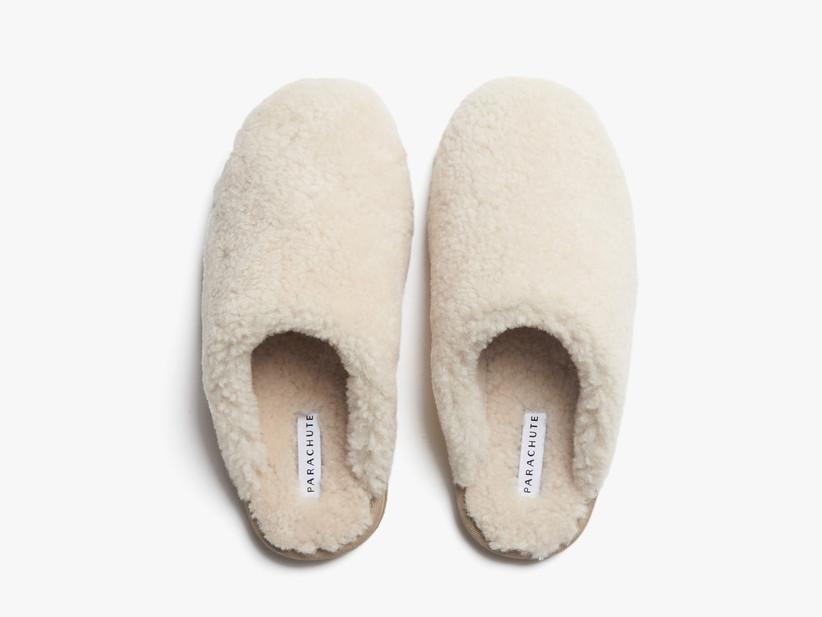 Cozy wool shearling slippers stepmom gift