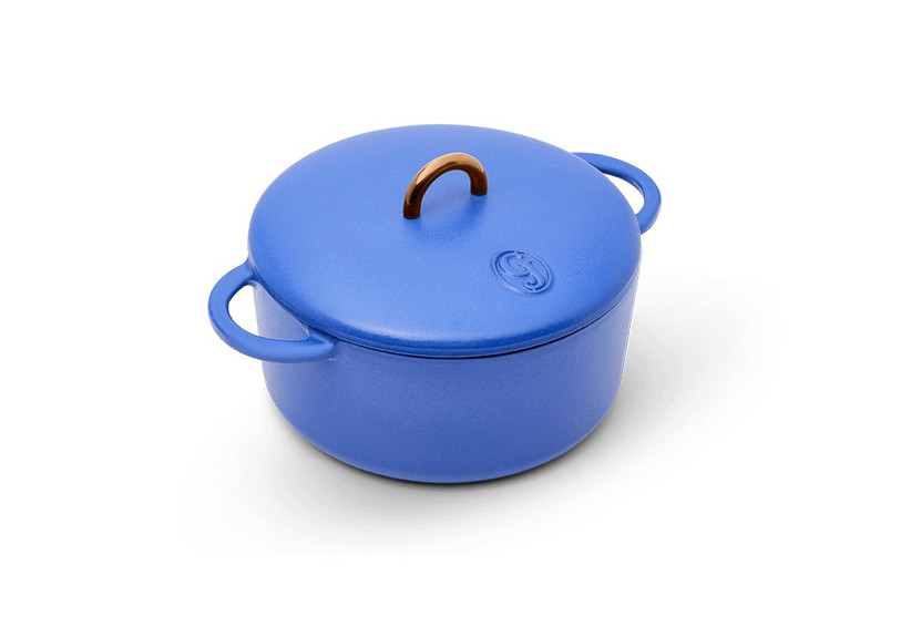 Mini Dutch oven from Great Jones in royal blue hue