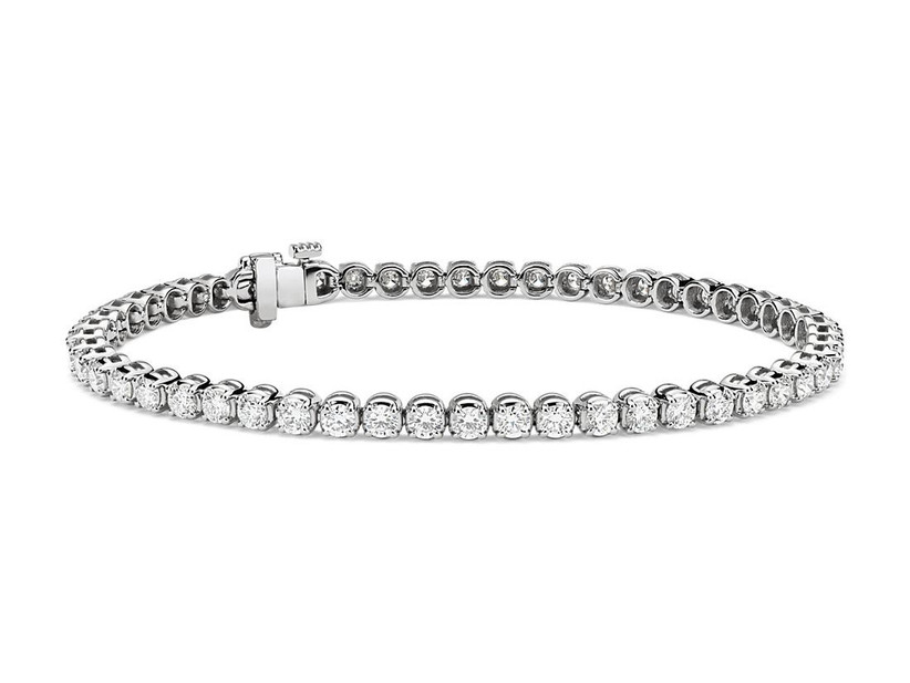 Platinum and diamond tennis bracelet 60th anniversary gift