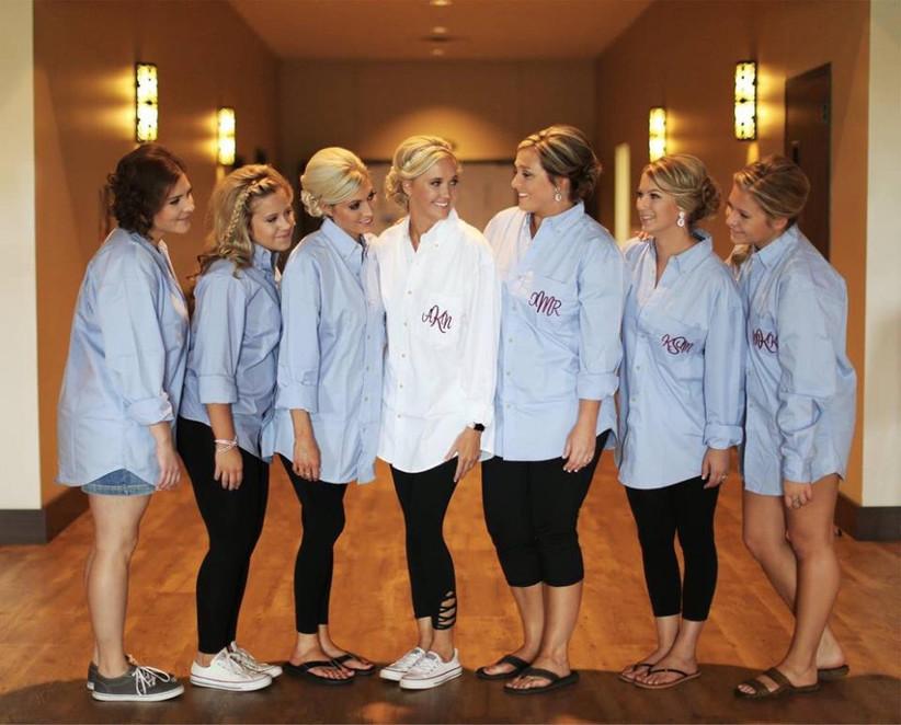 Bridal Party Shirts Wedding Day Shirts Bridesmaid Shirts Bridesmaid Button Down Shirts Bride Shirt Bridesmaids Shirts Getting Ready Shirts