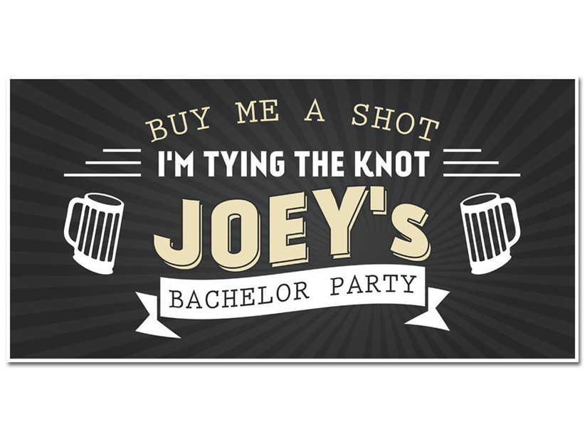 bachelor party sign